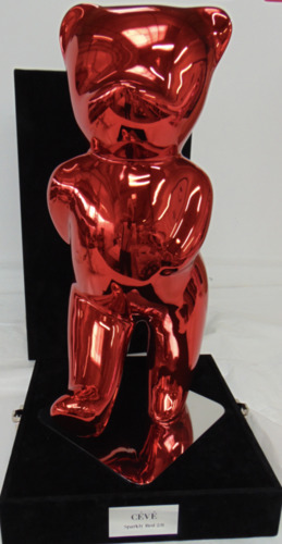 Sparkly Red : Teddy Débout (Résine - Glossy)