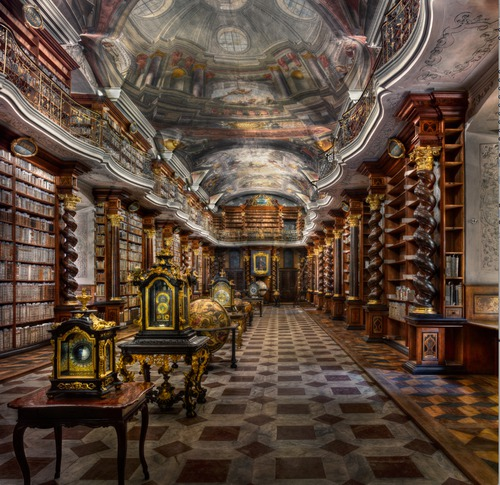 Baroque Library Hall-Clementinum
