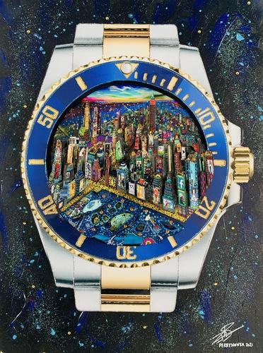 Rolex Submarine New York by night, 2021