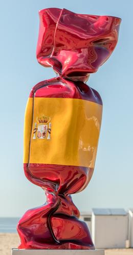 Wrapping Bonbon - Drapeau Espagne N°1343, 2011