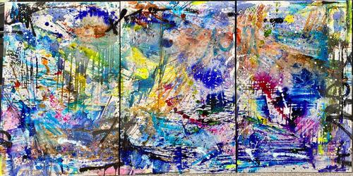 Triptyque - Abstract style