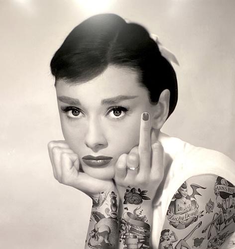 Audrey Rebel B/W