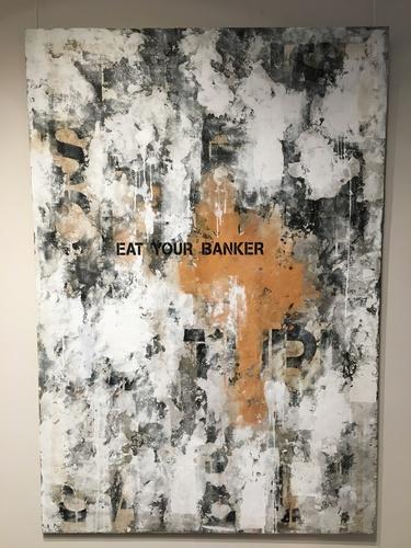 Eat Your Banker - Pochoir