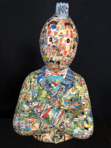 """TINTIN Bras croisés - """"Le Manteau de l'enfance"""" Vol 714 pour Sydney (60 cm)"""