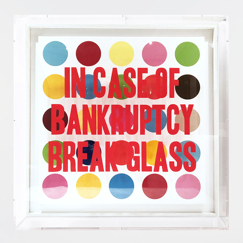 In Case of Bankruptcy - Hirst Dots (70 cm)