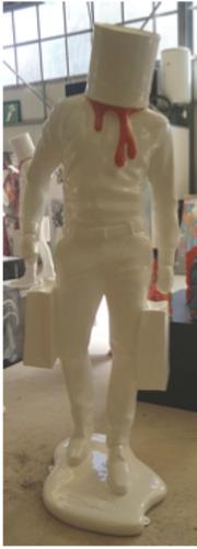 Shopping Man in Art - Blanc et orange CHANEL