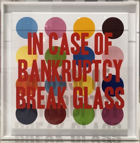 In Case of Bankruptcy - Damien Hirst Dots (60x60cm)