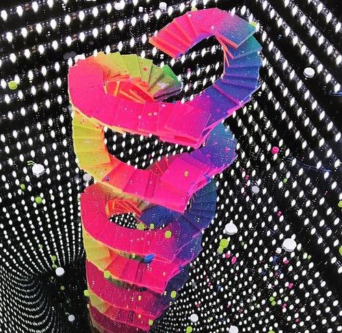 LED coffrage carré cube : multicouleur avec Coeur