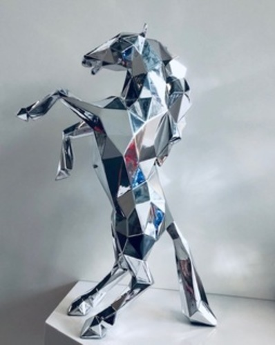 Horse Chrome on Resin
