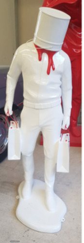 Shopping Man in Art - Blanc et rouge CHANEL