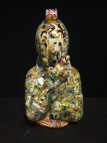"""TINTIN Penseur - """"L'ordre et le chaos"""" Picaros (40cm)"""