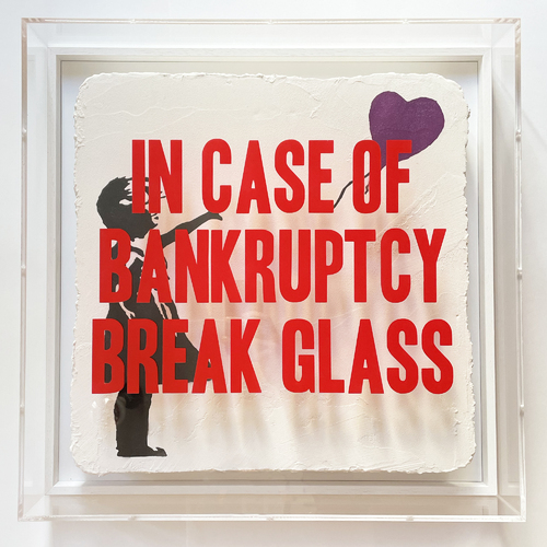 """In Case of Bankruptcy - """"Ballon Girl Purple"""", 2021"""