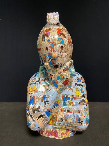 """TINTIN Penseur - """"L'ordre et le chaos"""" Tibet (40 cm)"""