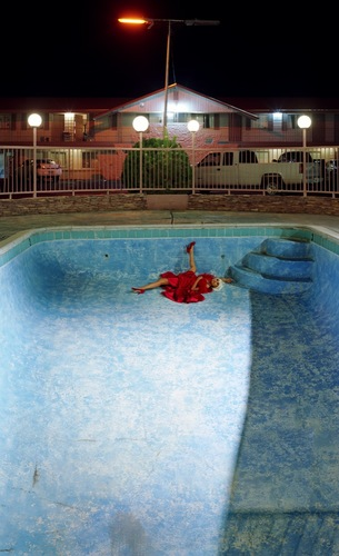 Thea in an Empty Pool at Night, 2007