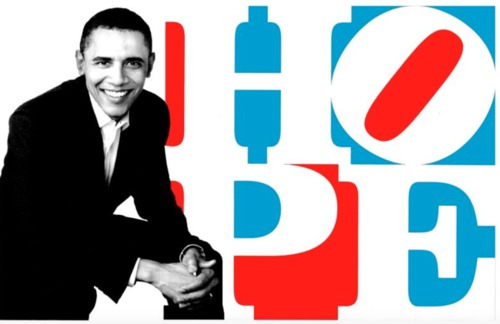 Obama HOPE (Red/White/Blue), 2010