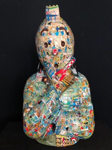 """TINTIN Penseur - """"L'ordre et le chaos"""" Objectif Lune (75 cm)"""