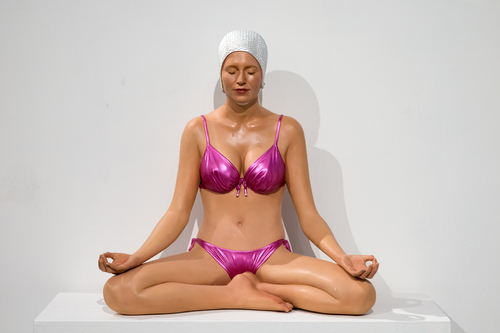 Miniature Balance Pink Suit and Pearl White Cap