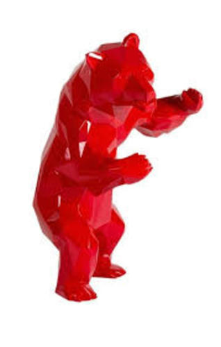 Ours debout - Red