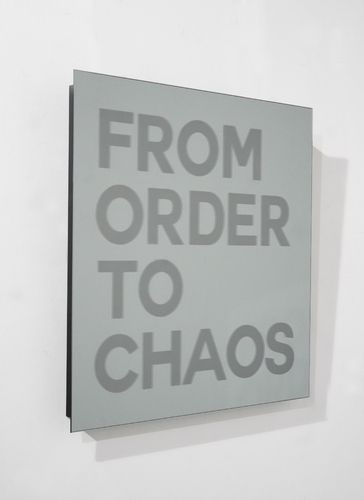 SERIE MIROIRS GRAVES - From order to chaos - Or Gris, 2021