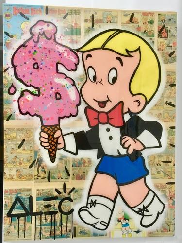 Richie with $ Ice cream