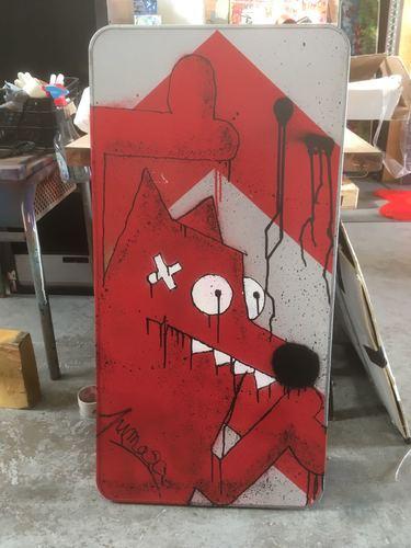 Red Portrait flèche