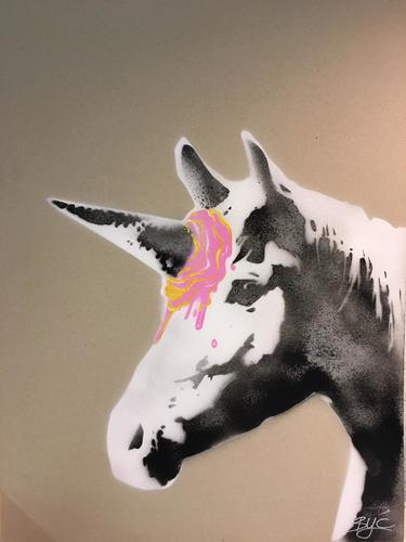 Fraise-Vanille ice cream unicorn, 2019