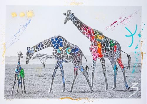 Giraffe Family (183cm)